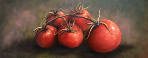 tomato quintet  |  76x30cm  |  original painting SOLD