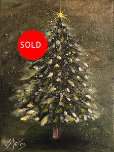 christmas pine  |  18x24cm  |  original oil painting | SOLD