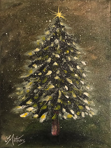 christmas pine  |  18x24cm  |  original oil painting SOLD