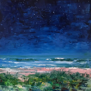 sea and stars  |  50x50cm  |  original oil painting SOLD