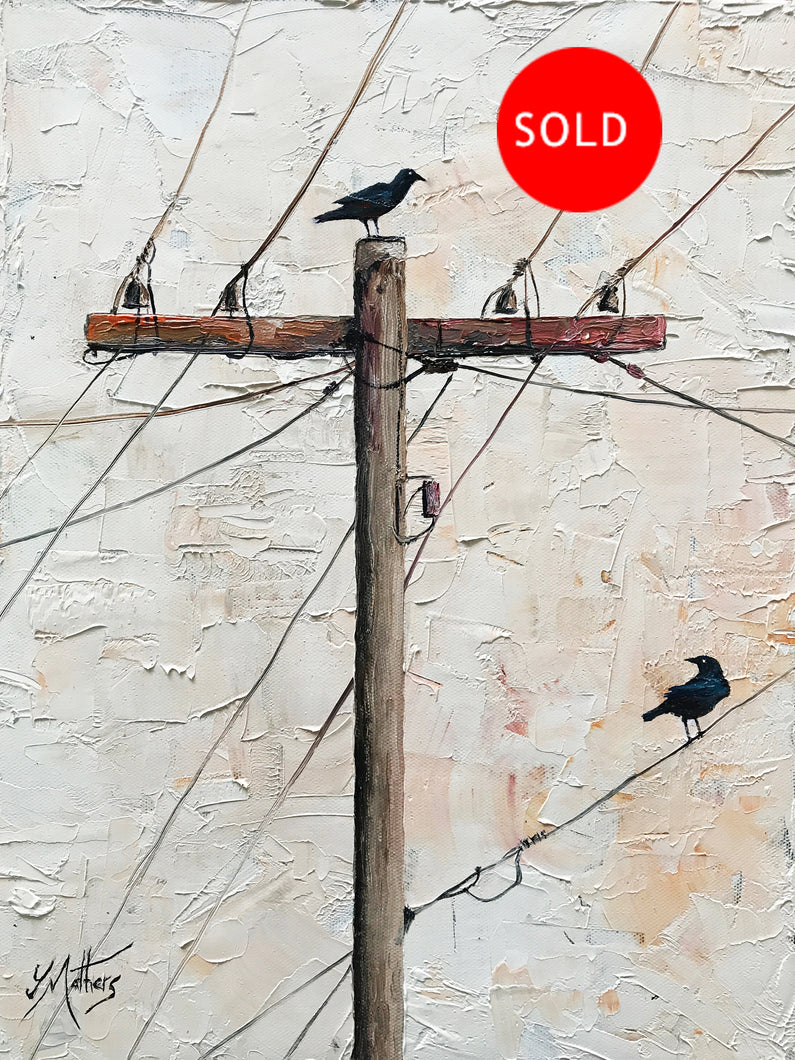 two crows of norwich  |  30x40cm  |  original oil painting SOLD