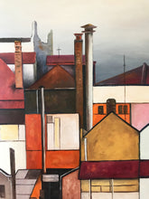 fortitude valley view  |  168x70cm  |  triptych original painting SOLD