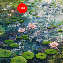 early morning lilies  |  60x60cm  |  original painting SOLD