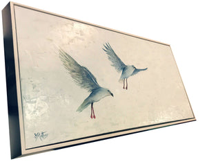 white flight   |  101x50cm   |  original painting