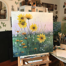 shades of sunshine |  76x76cm  |  framed original painting