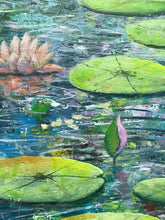 water lily reflections  |  90x45cm  |  original painting