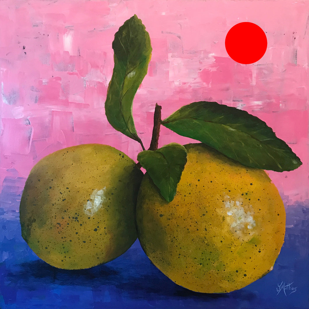 life gives you lemons  |  61x61cm  |  original painting