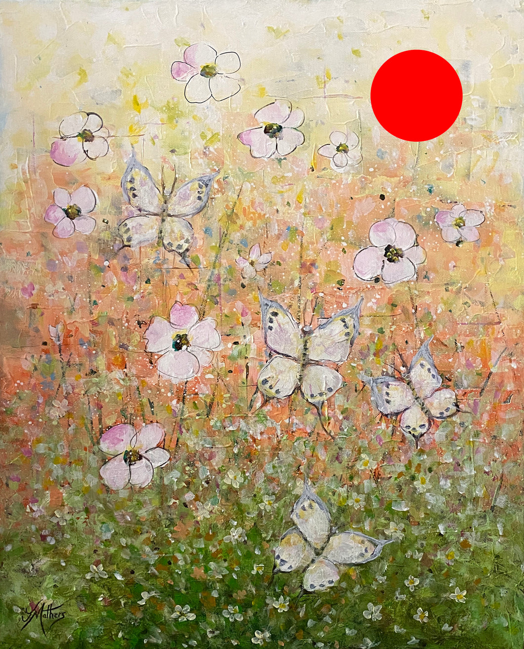 butterfly garden  |  40x50cm  |  original painting SOLD
