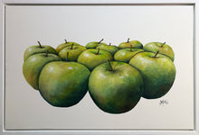 thirteen apples  |  original painting<br><i>framed | 75x50cm + frame</i>