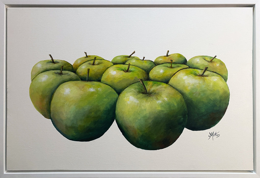 thirteen apples  |  75x50cm  |  framed original painting
