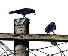 PRINT on CANVAS: electric crows  |  from my original painting - multiple sizes available