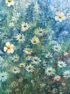 blue garden  |  45x91cm  |  original oil painting SOLD