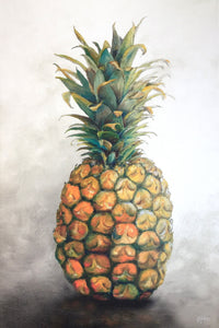 CANVAS PRINT 'one big pineapple' 50x75cm in stock