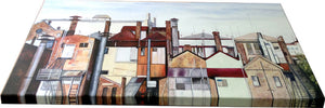 PRINT on CANVAS | disappearing fortitude valley<br><i>50x100cm | from my original painting</i>