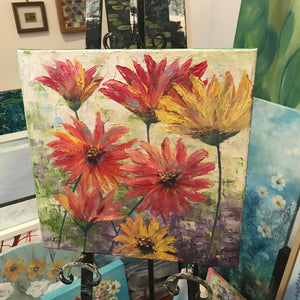 summer flowers  |  40x40cm  |  original painting SOLD