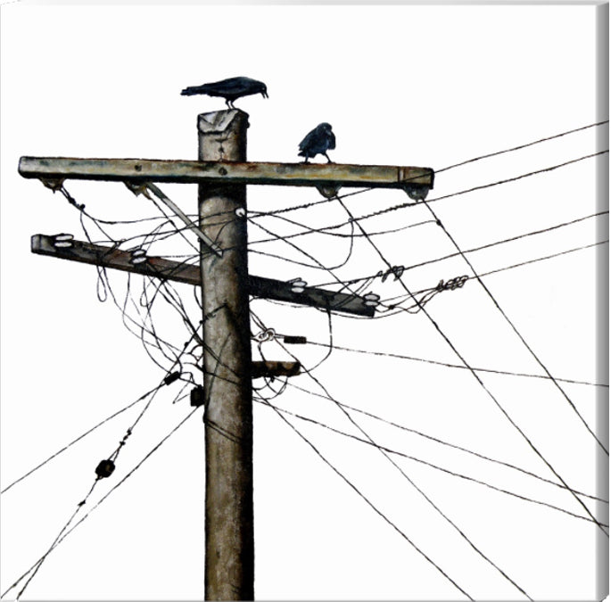 PRINT: electric crows  |  from original