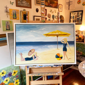 day at the beach  |  90x60cm  |  original painting