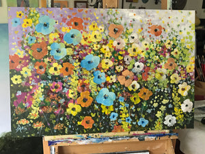 a riot of flowers  |  76x51cm  |  original painting