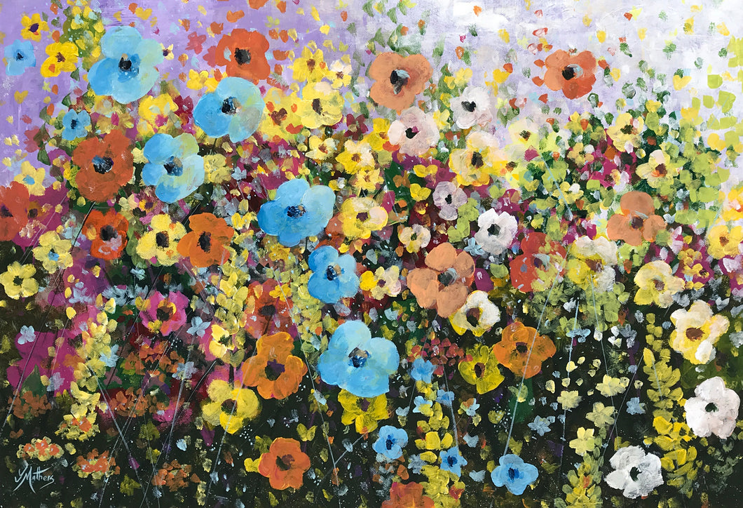 riot of flowers  |  76x51cm  |  original painting