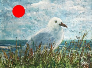 seagull by the sea  |  30x22cm  |  original painting SOLD