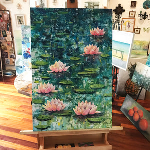 lily pond  |  60x90cm  |  original painting SOLD