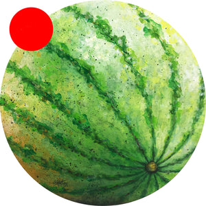 a watermelon  |  50x50cm  |  original painting
