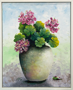 geraniums |  40x50cm  | original painting