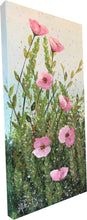 pink poppies  |  30x61cm  |  original acrylic painting