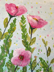 pink poppies  |  30x61cm  |  original acrylic painting SOLD