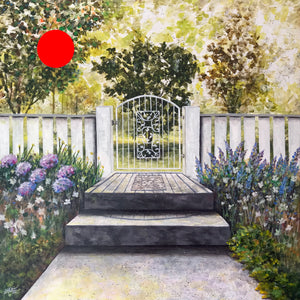 through the garden gate  |  91x91cm  |  original painting SOLD