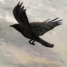 the crow flies north of bajool | original painting<br><i>framed | 102x76cm + frame</i>