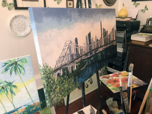 PRINT on CANVAS |  over the story bridge<br><i>various sizes | from my original painting</i>
