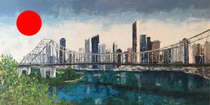 over the story bridge  |  91x45cm  |  original painting SOLD