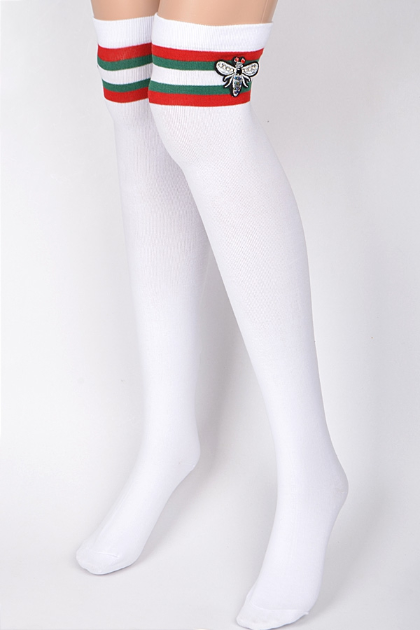 G Stripe Knee Socks