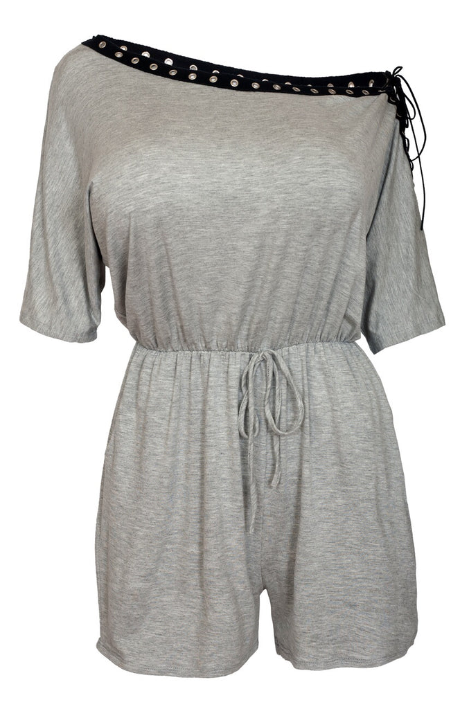 She Is - Laced Up Romper