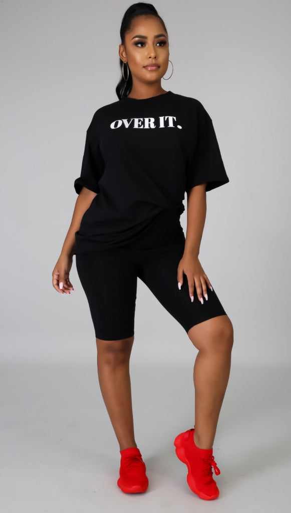 So Over It Biker Short Set