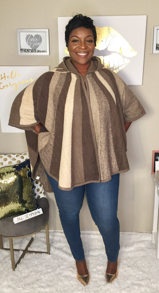 Wrapped in Blankets Poncho Mocha