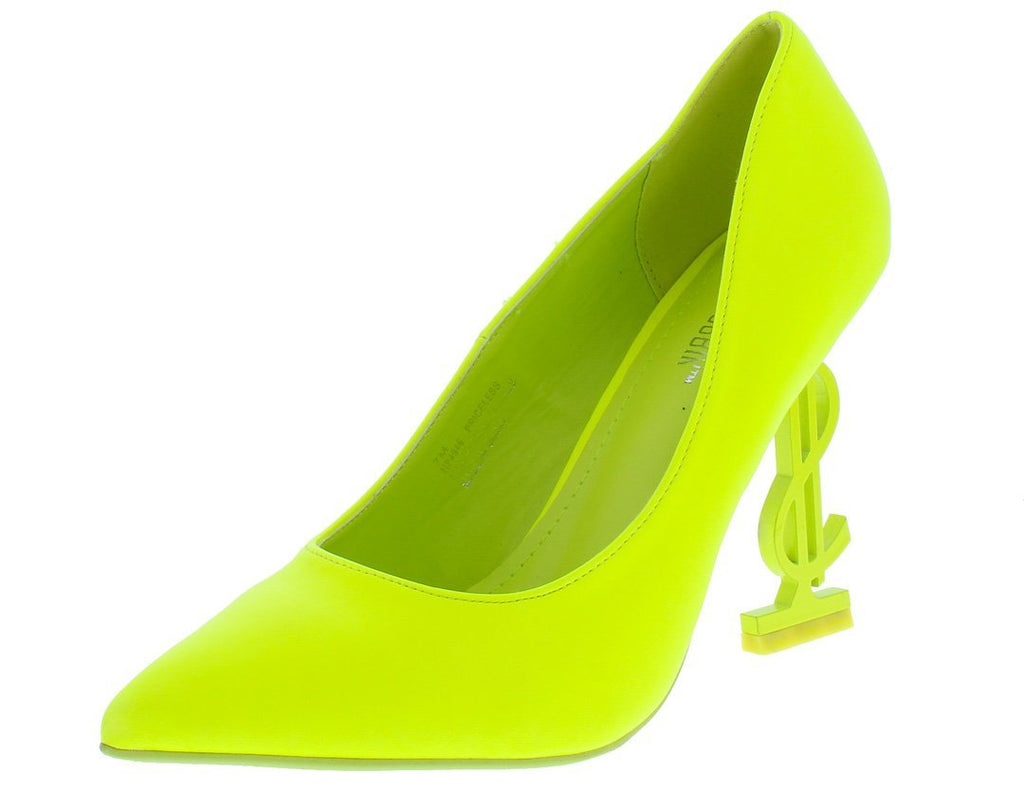 """Kash Doll"" Lime Heels."