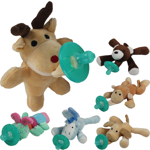 Newborn Silicone Babies Pacifiers Nibbler Animal Plush