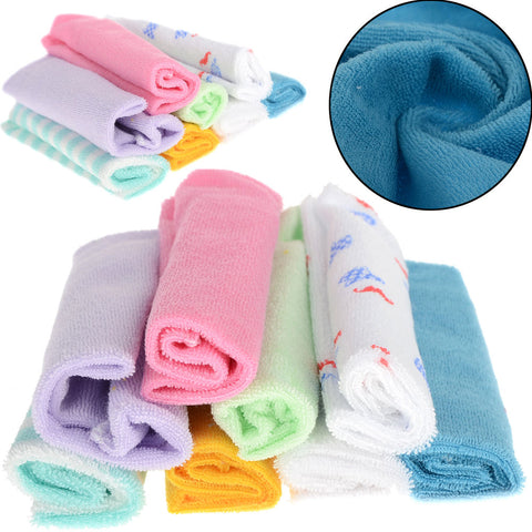 8Pcs/Set Baby Infant Newborn Soft Bath Towel