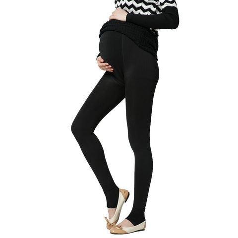 Plus Velvet Thickening Winter Maternity Leggings Pants