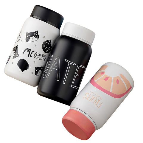 Cartoon Thermo Cup Adult Baby Bottle for Water Stainless Steel