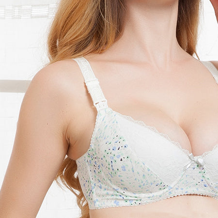 Maternity Cotton Underwire Bra For Feeding Pregnant Front Opening