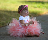 Girls tutu skirt fluffy Rainbow tutu Baby birthday