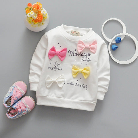 New Spring Kids T-Shirt Baby Girls Long Sleeve Shirts