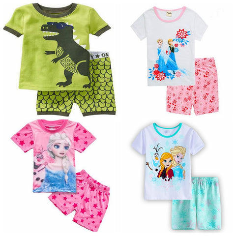 Retail! New Children's Sleeping Set Elsa & Anna Pyjamas