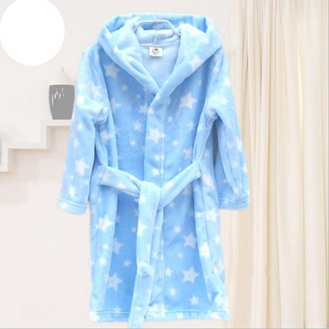 Children's Bathrobes Kids Hooded Robe