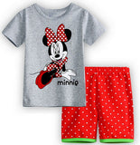 Hot Sale Sleepwear Kids Sets Short Sleeve Cartoon