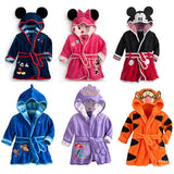 Children Pajamas Sets Kids Coral Fleece Hooded Robe