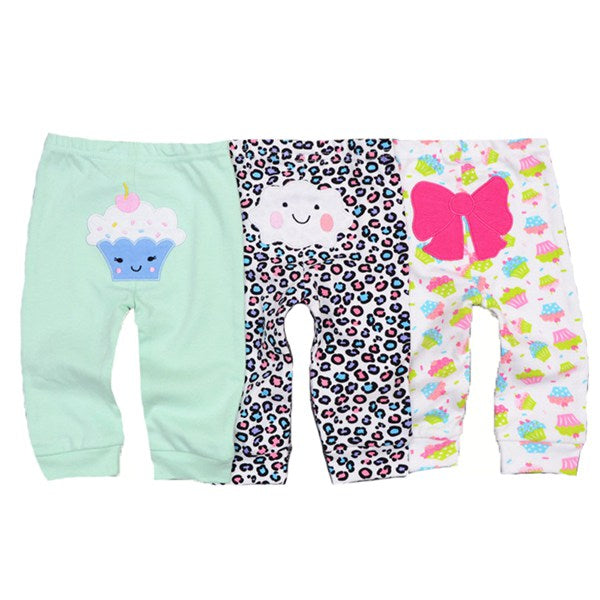 3pcs/lot 2017 casual Baby Pants Spring Autumn Cotton Baby Trousers